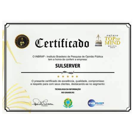 Certificado SULServer